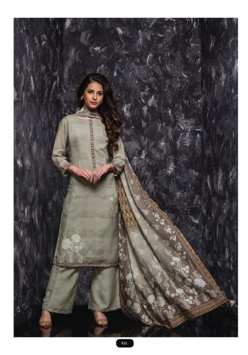 SRI Samaira Pure Viscose Bemberg Maslin Printed Exclusive Tiki work Suit 935
