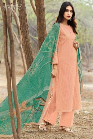 Sahiba Sarg Presents Amstel Stripe Cotton Lining With Embroidery Suit 932