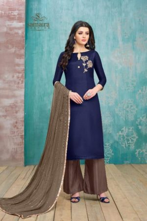 Samaira Presents Mario Upada Silk With Embriodery Work Suit 26003