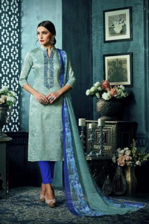 Sargam Presents Maria Jam Satin Designer Front Back Print With Work Suit 50011