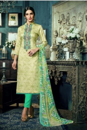 Sargam Presents Maria Jam Satin Designer Front Back Print With Work Suit 50012