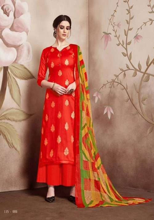 Sargam Prints Presents Florine Pure Zam Foil Print With Shisha khtli Works Suits 115-006