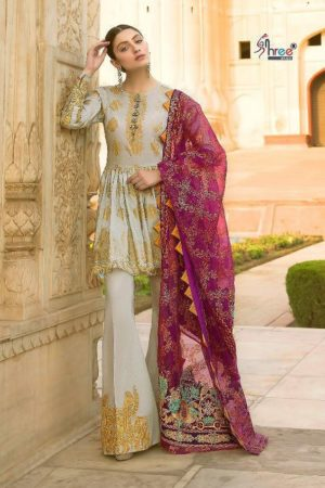 Shree Fabs Rangrasiya Premium Collection vol 2 Cotton With Embroidery Suits 8205