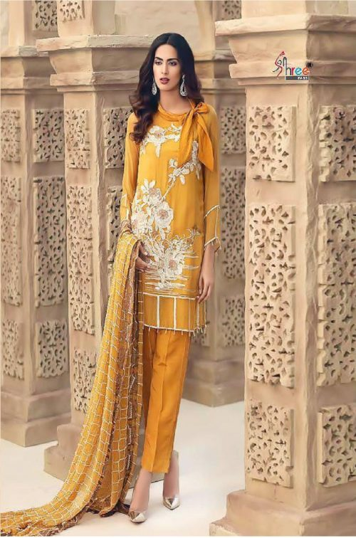Shreefab Present Almirah Pure Cotton With Embrodery Suit 3114