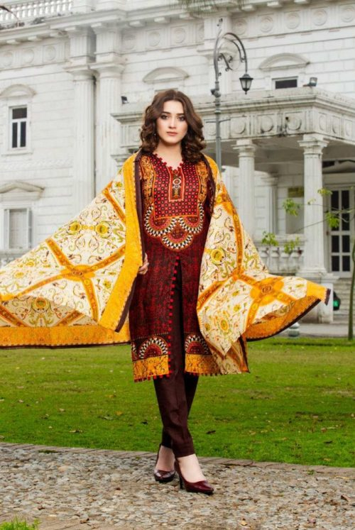 Three Star Presents Lawn Collection Vol 2 Beautiful Printed Lawn Collection Suit 02