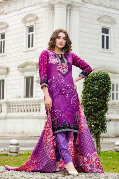 Three Star Presents Lawn Collection Vol 2 Beautiful Printed Lawn Collection Suit 03