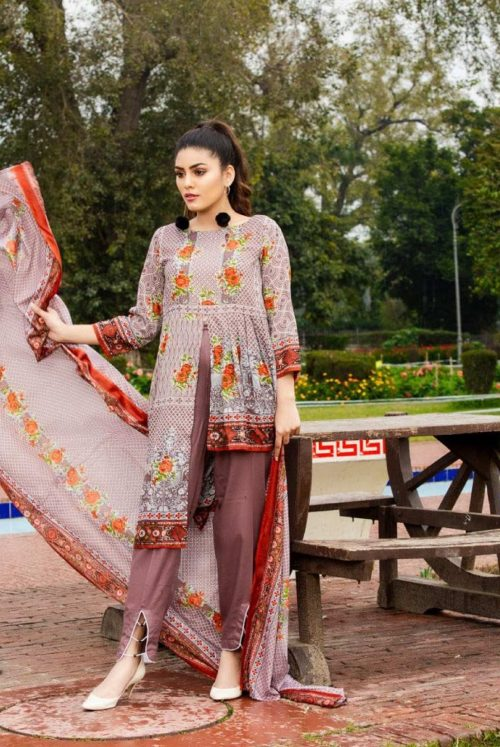 Three Star Presents Lawn Collection Vol 2 Beautiful Printed Lawn Collection Suit 07