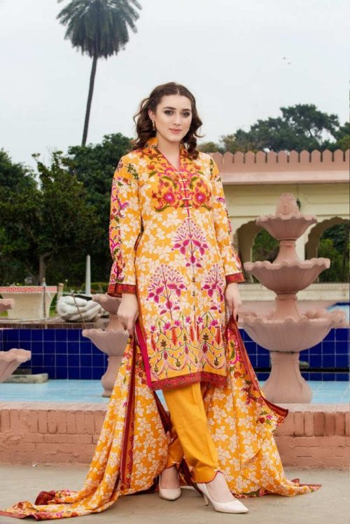 Three Star Presents Lawn Collection Vol 2 Beautiful Printed Lawn Collection Suit 09