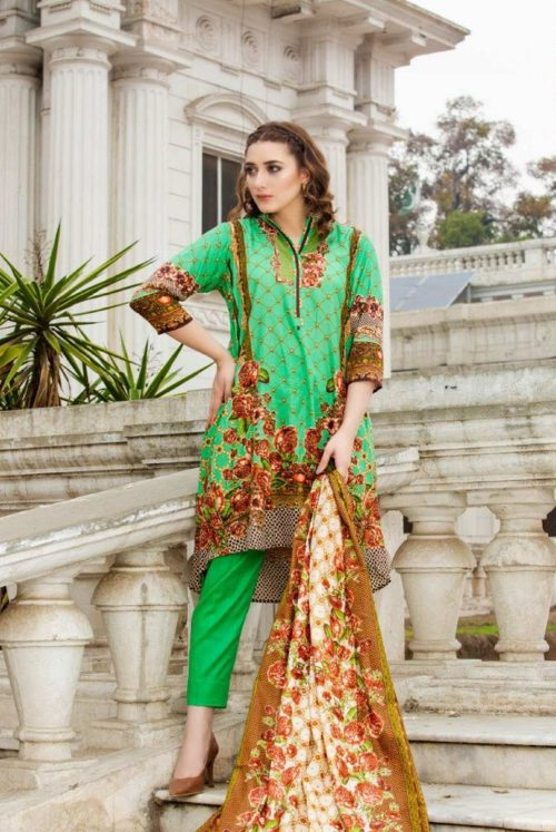 Three Star Presents Lawn Collection Vol 2 Beautiful Printed Lawn Collection Suit 15