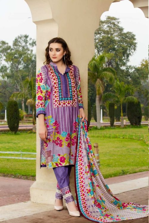 Three Star Presents Lawn Collection Vol 2 Beautiful Printed Lawn Collection Suit 19