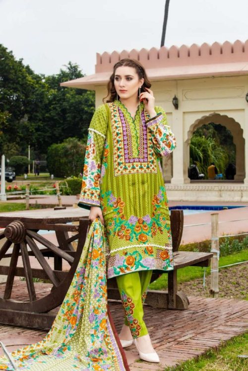 Three Star Presents Lawn Collection Vol 2 Beautiful Printed Lawn Collection Suit 20