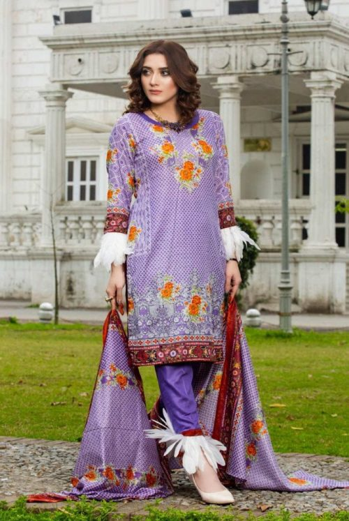Three Star Presents Lawn Collection Vol 2 Beautiful Printed Lawn Collection Suits 01