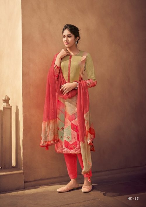 Varsha Fashion Presents Nikhaar Superior Cotton With Embroidery Salwar Suit NK-35