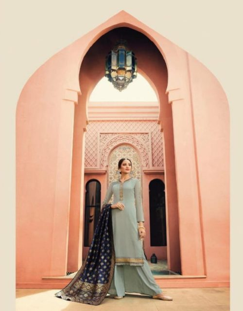 Zubeda Myra Banarsi Vol 2 Satin Georgette With Embroidery Suits 15405