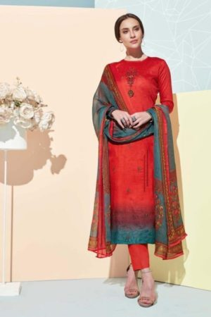 Belliza Presents Bliss Pure Premium jam Cotton Digital Primt With fancy heavy Embriodery Suits 230-002