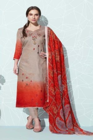 Belliza Presents Bliss Pure Premium jam Cotton Digital Primt With fancy heavy Embriodery Suits 230-010