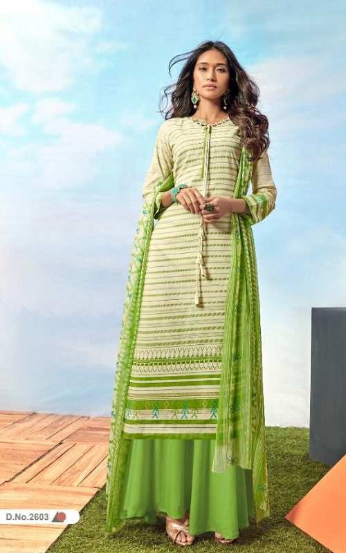 Buy AT presents Jannat Vol-26 Camric cotton Printed Salwar Suits 2603