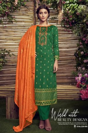 Buy Belliza Presents Elegance Pure Orignal Jam Silk Print & Heavy Embroidery & Foil Work Suits 228-008