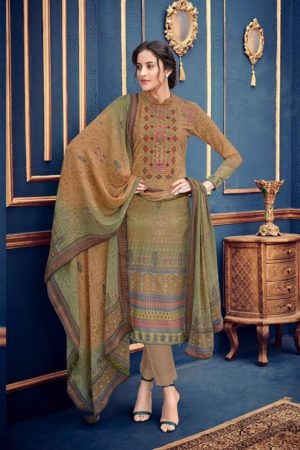 Buy Mumtaz Arts Presents Rangon Ki Dunya Gulzaar Karachi Lawn Digital Print With self Embroidery Suits 804