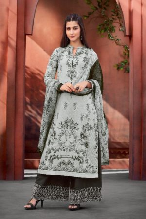 Buy Sahiba Esta Presents Mariegold Digital Printed Cotton Lawn With Mirror work Suits 110