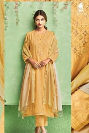 Buy Sahiba Presents Legacy Cotton Jari Butta With Embroidery Salwar Suits 890