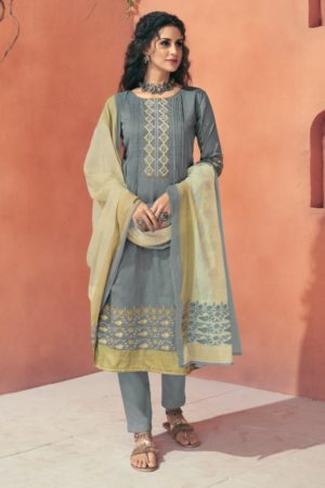 Buy Shahnaz Arts Presents Avnoor Pure Cotton Print With Embroidery Salwaar Suits 7005