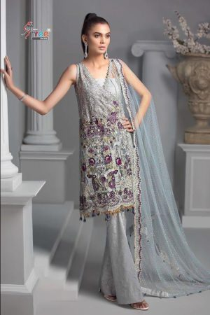 Buy Shree Fabs Presents Crimson Premium Collection Net With Heavy Sequence Work With Handwork Suits 8143