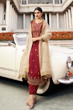 Buy Vinay Fashion Presents Tumbaa Feelings Silk With Embroidery Work Salwaar Suits 36242