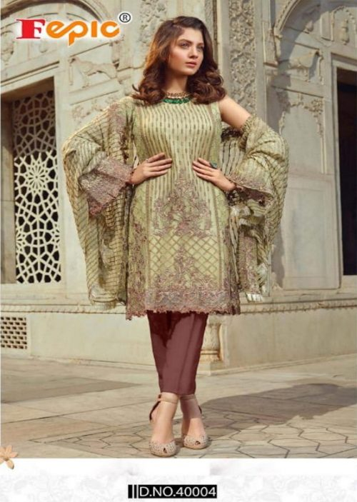 Fepic Presents Rosemeen Royal Luxury Georgette With Embroidery Suit 40004