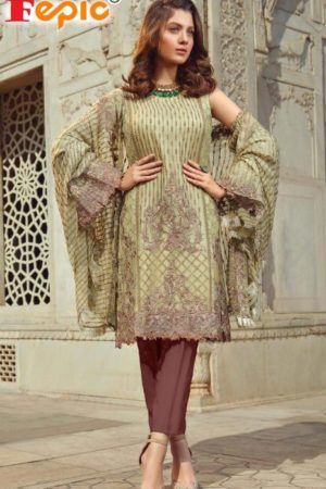 Fepic Presents Rosemeen Royal Luxury Georgette With Embroidery Suits 40004