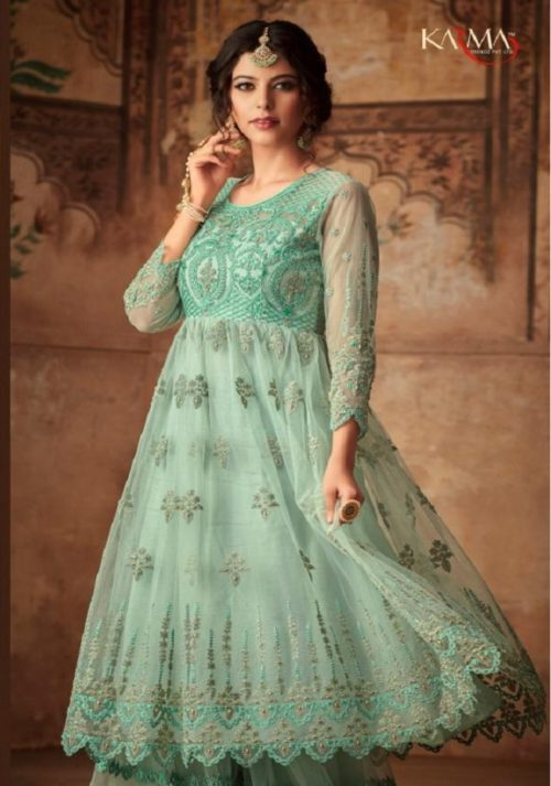 385aa44d85 Buy Karma Trendz Presents Eid Special Net Heavy Embroidered And Additional  Diamond Work Suits 16005