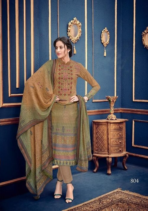 Mumtaz Arts Presents Rangon Ki Duniya Gulzaar Karachi Lawn Digital Print With self Embroidery Suit 804