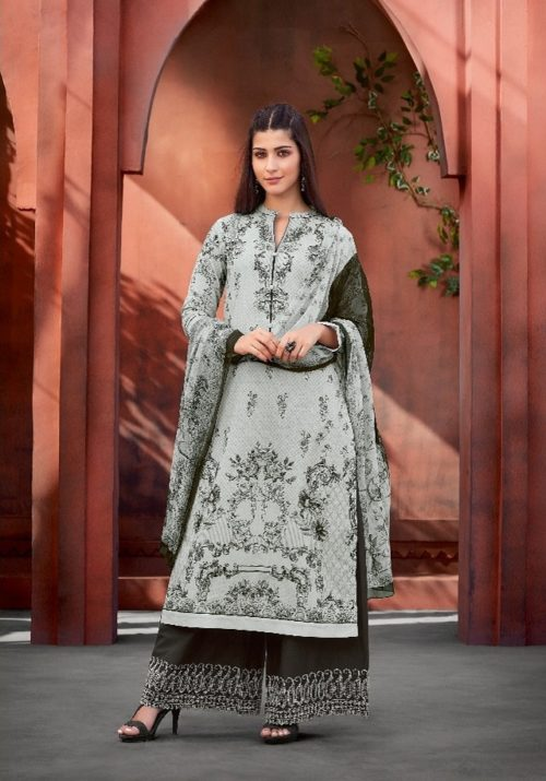 Sahiba Esta Presents Mariegold Digital Printed Cotton Lawn With Mirror work Suit 110
