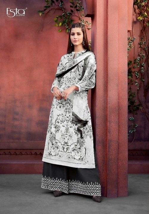 Sahiba Esta Presents Mariegold Digital Printed Cotton Lawn With Mirror work Suits 106