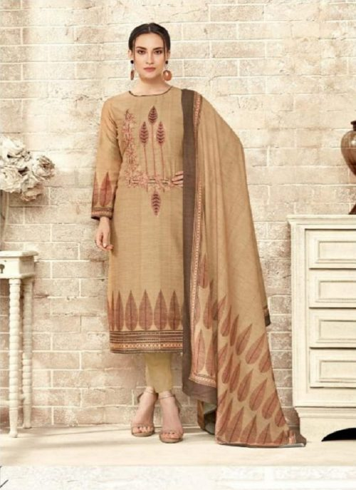 Sargam Prints Presents Aarohi Muslin Cotton Prints With Designer Work Suit 127-006