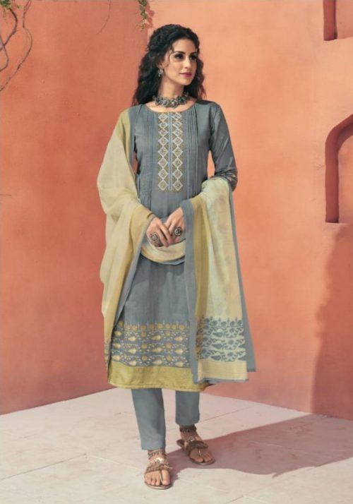 Shahnaz Arts presents Avnoor Pure Cotton Print With Embroidery Salwaar Suits 7005