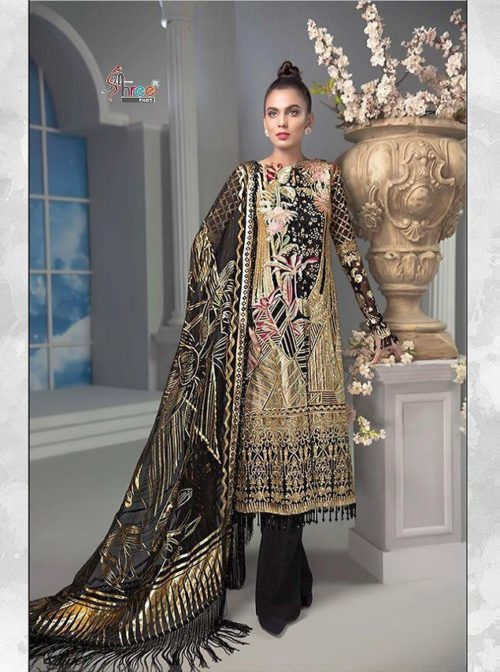 Shree Fabs Presents Crimson Premium Collection Net With Heavy Sequence Work With Handwork Suits 8145