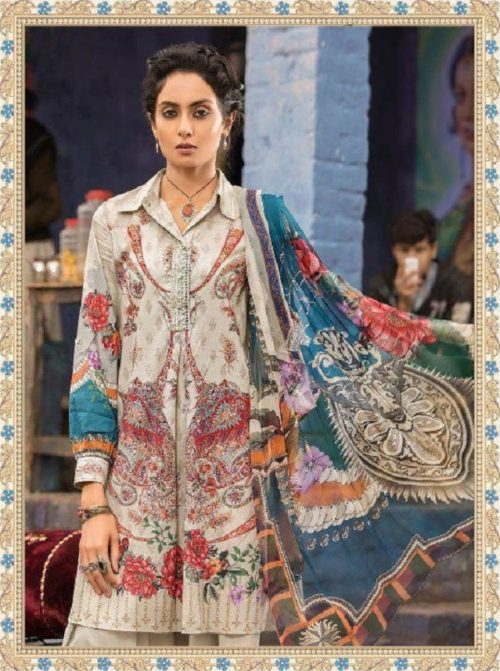 4ac1a544e5 Buy Shree Fabs Presents Maria B Muzlin Collection Pure Cotton with  Embroidery Salwaar Suits 7102