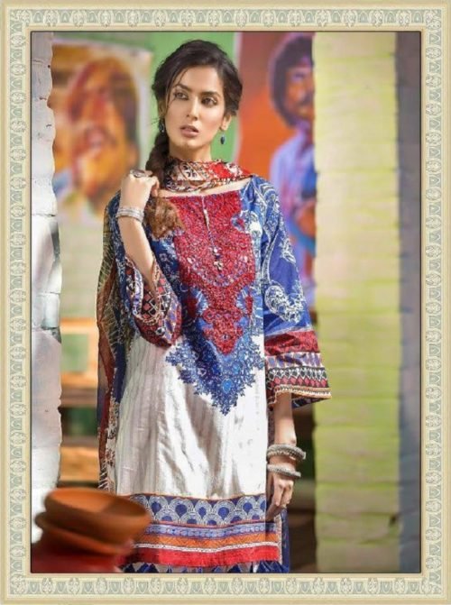 b2a351925f Buy Shree Fabs Presents Maria B Muzlin Collection Pure Cotton with  Embroidery Salwaar Suits 7108