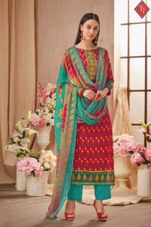 Tanishk Fashion Presents Sana Safinaz Pure Lawn Cambric With Discharge Double Print Suit 8407