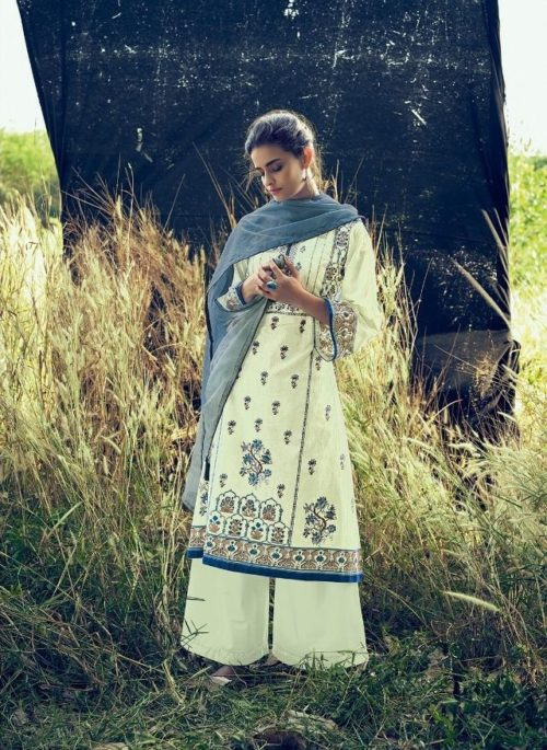 Varshaa Fashion Presents Falaknuma 3 Cotton Printed With Embroidery Salwaar Suit FN-12