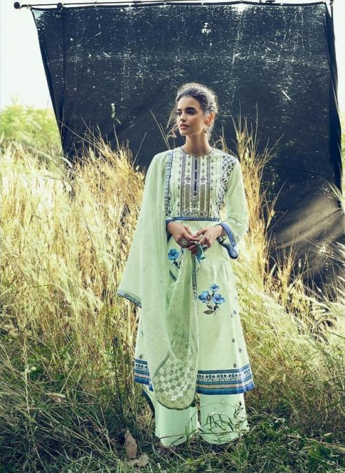 Varshaa Fashion Presents Falaknuma 3 Cotton Printed With Embroidery Salwaar Suit FN-16