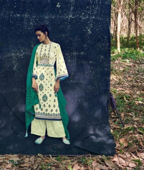 Varshaa Fashion Presents Falaknuma 3 Cotton Printed With Embroidery Salwaar Suits FN-14