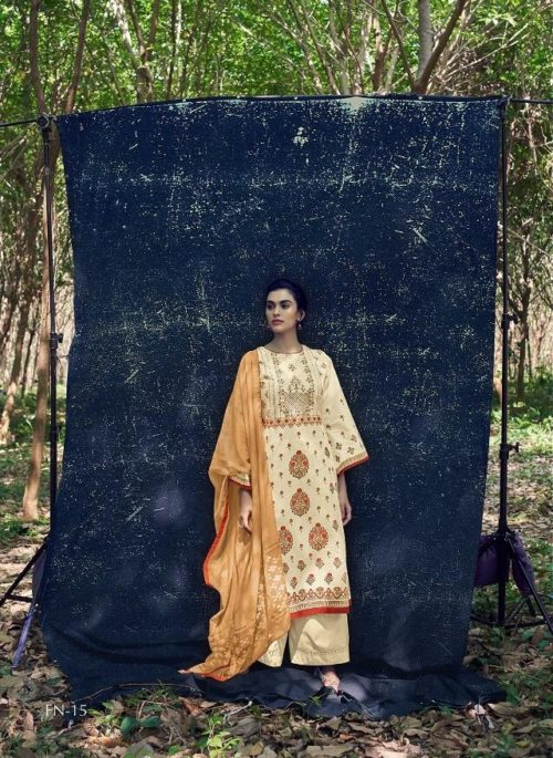 Varshaa Fashion Presents Falaknuma 3 Cotton Printed With Embroidery Salwaar Suits FN-15