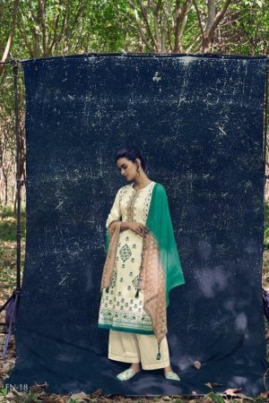 Varshaa Fashion Presents Falaknuma 3 Cotton Printed With Embroidery Salwaar Suits FN-18