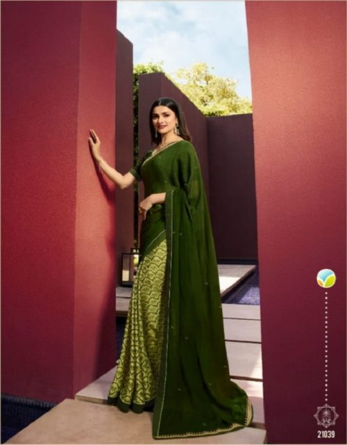 Vinay Fashion Presents Sheesha Starwalk 43 Silky Georgette Elegant Saree Collection 21039