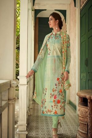 Amyra designer Presents Noshaba pure Cambric Lawn Siffly work With Digital Print Suits 5008
