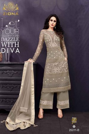 Buy Zoya Presents Emotion Shades Vol 2 Soft Net And Georgette With Embroidery And Hand Work Suits 25011-B