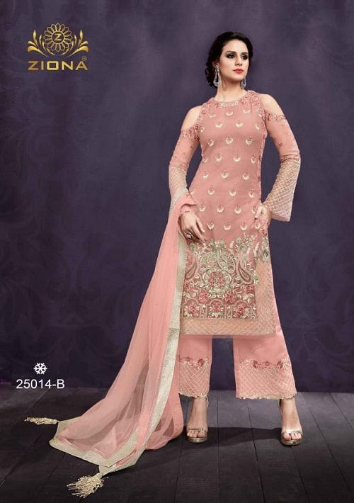 Buy Zoya Presents Emotion Shades Vol 2 Soft Net And Georgette With Embroidery And Hand Work Suits 25014 B