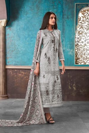 Esta Design Presents Adorable 2 Digital Printed Cotton Lawn With Embroidery And Swarovski Work Suits 111